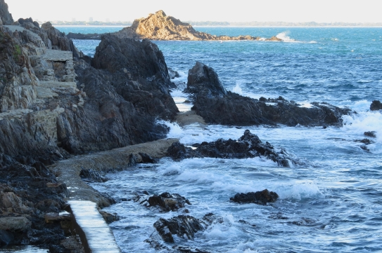 Collioure mer agitée