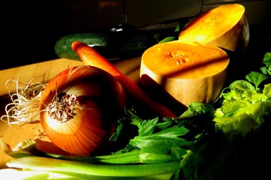 Nature morte légumes soupe Villeneuve de la raho