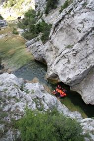 Sauvetage en canyon